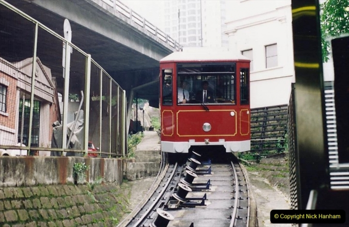 China 1993 April China into Hong Kong. (82) The Peak Railway. 082
