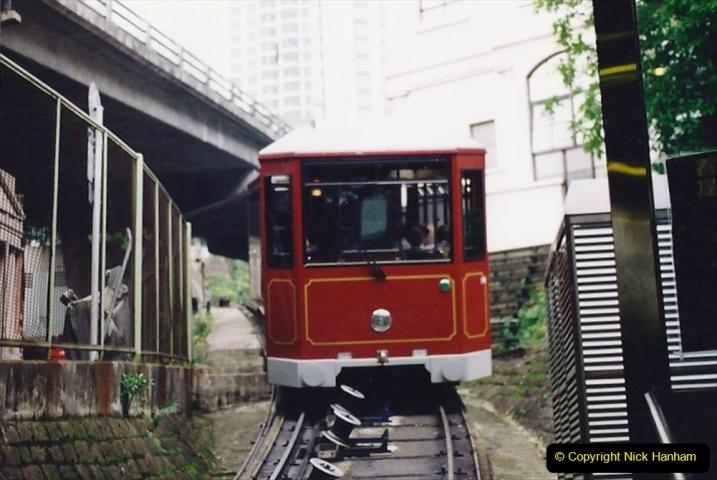 China 1993 April China into Hong Kong. (83) The Peak Railway. 083