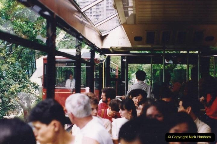 China 1993 April China into Hong Kong. (84) The Peak Railway. 084