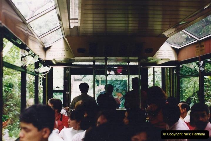 China 1993 April China into Hong Kong. (85) The Peak Railway. 085