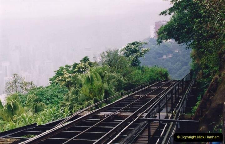 China 1993 April China into Hong Kong. (86) The Peak Railway. 086