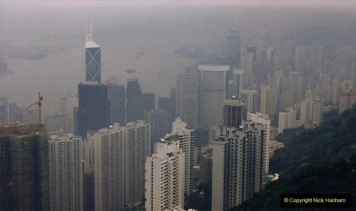 China 1993 April China into Hong Kong. (90) At the top of the Paek and still VERY misty. 090