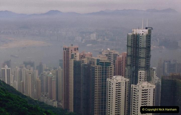 China 1993 April China into Hong Kong. (91) At the top of the Paek and still VERY misty. 091