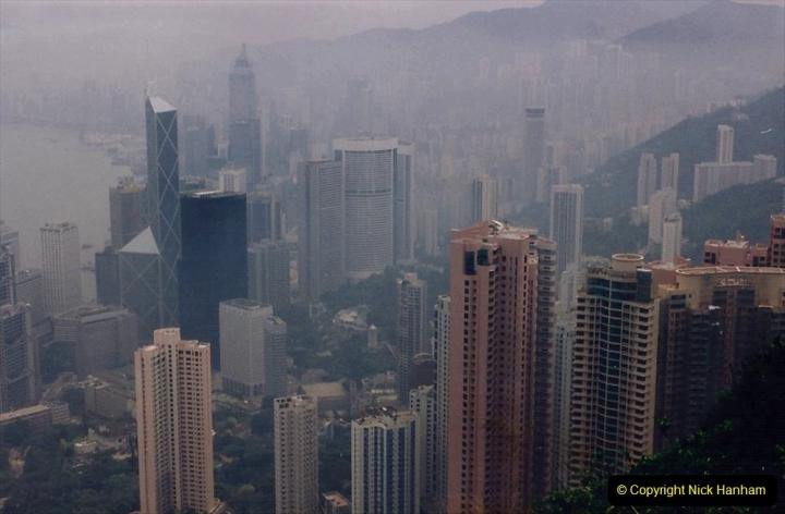 China 1993 April China into Hong Kong. (93) At the top of the Paek and still VERY misty. 093