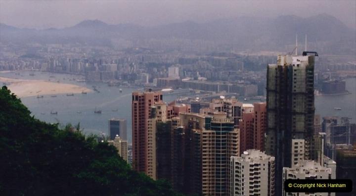 China 1993 April China into Hong Kong. (95) At the top of the Paek and still VERY misty. 095