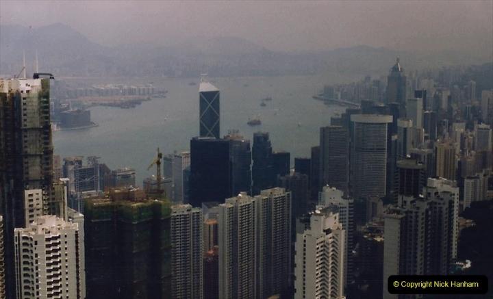 China 1993 April China into Hong Kong. (96) At the top of the Paek and still VERY misty. 096