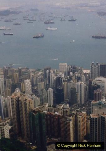 China 1993 April China into Hong Kong. (98) At the top of the Paek and still VERY misty. 098