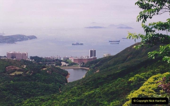 China 1993 April China into Hong Kong. (99) At the top of the Paek and still VERY misty. 099