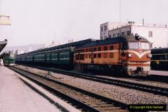 China 1993 April China into Hong Kong. (1) Guangzhou to Hong Kong by train. 001