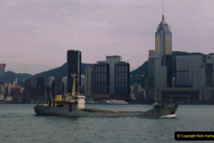 China 1993 April China into Hong Kong. (108) A clearer day from Kawloon. 108