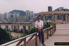 China 1993 April China into Hong Kong. (112) A clearer day from Kawloon. 112