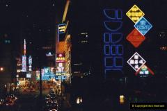China 1993 April China into Hong Kong. (138) Hong Kong at night. 138