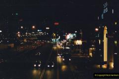 China 1993 April China into Hong Kong. (140) Hong Kong at night. 140
