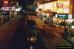 China 1993 April China into Hong Kong. (150) Hong Kong at night. 150