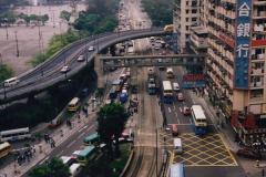 China 1993 April China into Hong Kong. (17) Hong Kong on a very misty day. 018