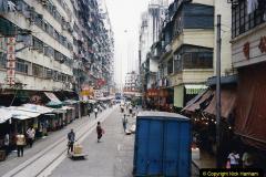 China 1993 April China into Hong Kong. (175) Last look at Hong Kong. 175