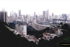 China 1993 April China into Hong Kong. (19) Happy Valley. 020