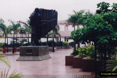 China 1993 April China into Hong Kong. (45) Hong Kong from Kowloon. 045