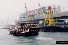 China 1993 April China into Hong Kong. (46) Hong Kong from Kowloon. 046