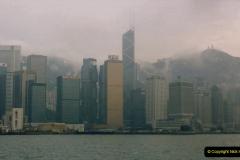 China 1993 April China into Hong Kong. (56) Hong Kong from Kowloon. 056