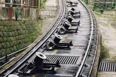 China 1993 April China into Hong Kong. (81) The Peak Railway. 081