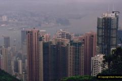 China 1993 April China into Hong Kong. (92) At the top of the Paek and still VERY misty. 092