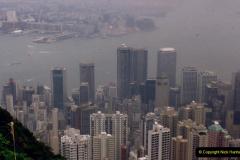 China 1993 April China into Hong Kong. (94) At the top of the Paek and still VERY misty. 094
