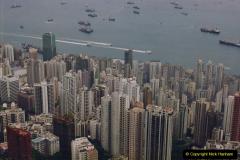 China 1993 April China into Hong Kong. (97) At the top of the Paek and still VERY misty. 097