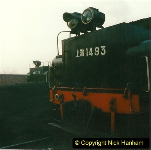 China 1997 November Number 1. (105) Steel Works shed area. 105