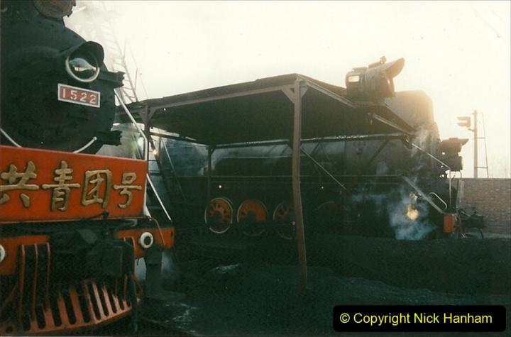 China 1997 November Number 1. (114) Steel Works shed area. 114