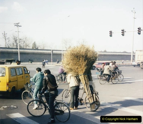 China 1997 November Number 1. (15) Beijing. Road sweeper brushes.015