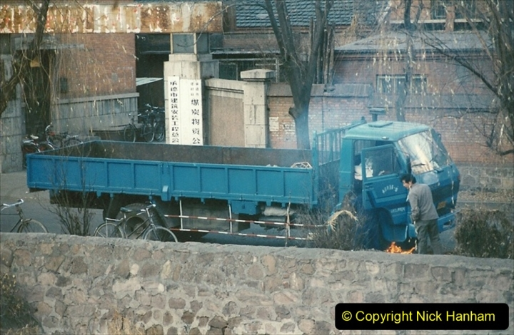 China 1997 November Number 1. (192) Very cold so defrosting truck wit som flames.192