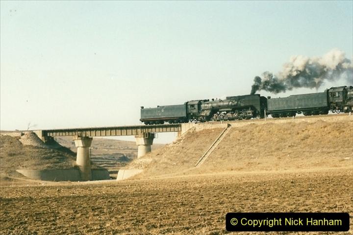 China 1997 November Number 1. (325) Various locations for linesiding near Yebaishuo. Triple header. 325