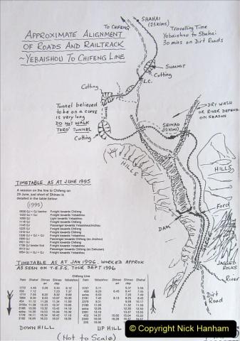 China 1997 November Number 2. (1) Yebaishou area linesiding. 001
