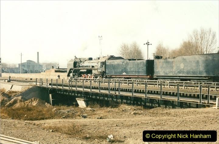 China 1997 November Number 2. (169) Yebaishou yard area. Triple header. 169