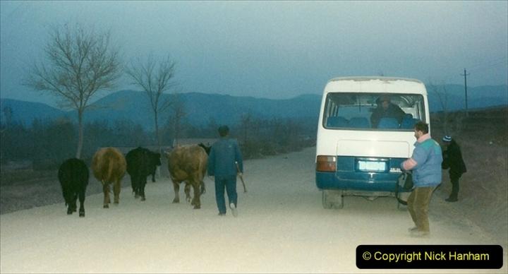 China 1997 November Number 2. (25) Yebaishou area linesiding. Dusk. 025