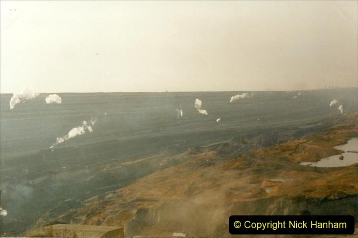 China 1999 October Number 1. (105) At Jalainur Opencast Coal Mine.