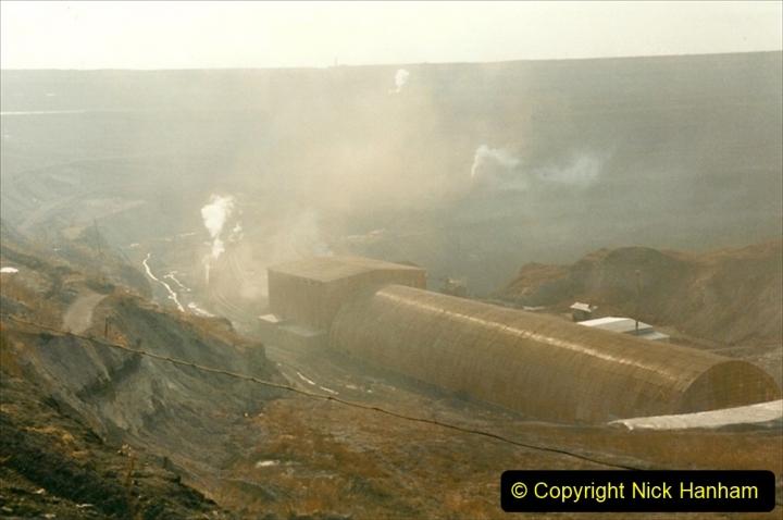 China 1999 October Number 1. (112) At Jalainur Opencast Coal Mine.