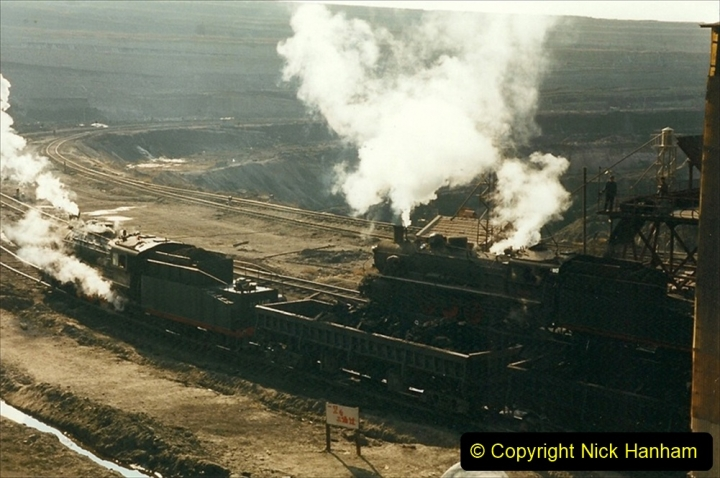 China 1999 October Number 1. (115) At Jalainur Opencast Coal Mine.