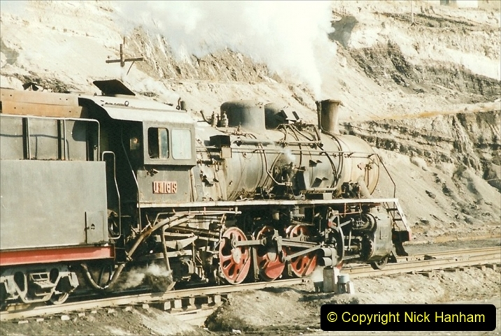 China 1999 October Number 1. (120) At Jalainur Opencast Coal Mine.