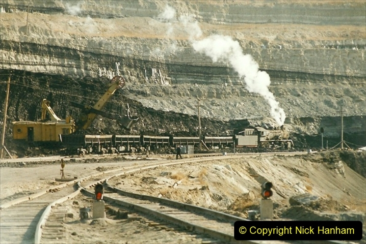 China 1999 October Number 1. (122) At Jalainur Opencast Coal Mine.