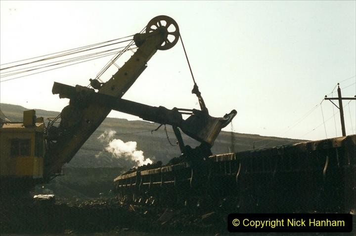 China 1999 October Number 1. (123) At Jalainur Opencast Coal Mine.