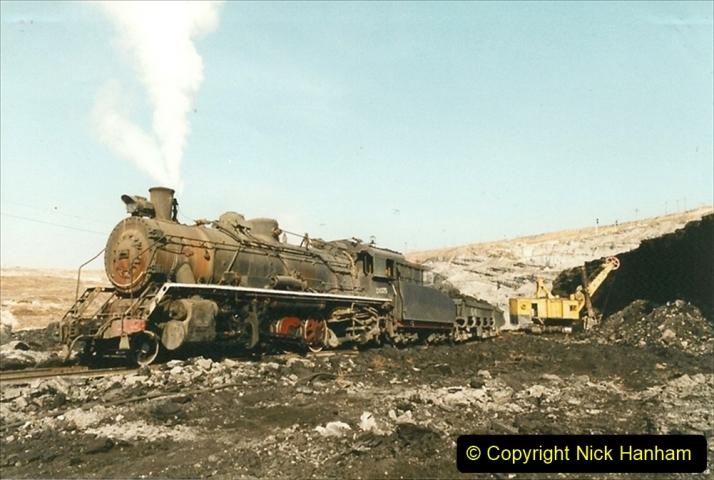 China 1999 October Number 1. (126) At Jalainur Opencast Coal Mine.