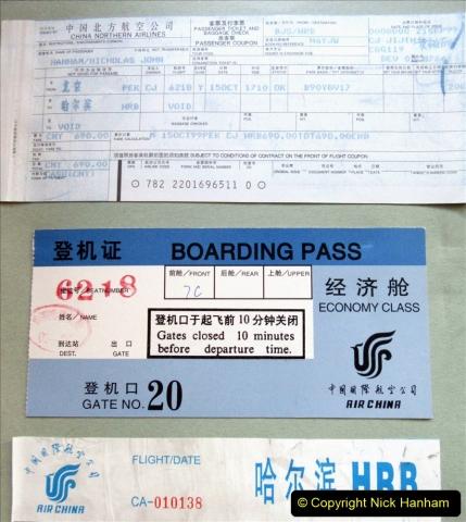 China 1999 October Number 1. (13) Onward flight to Harbin.