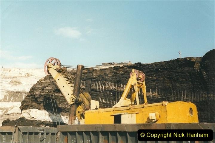 China 1999 October Number 1. (131) At Jalainur Opencast Coal Mine.