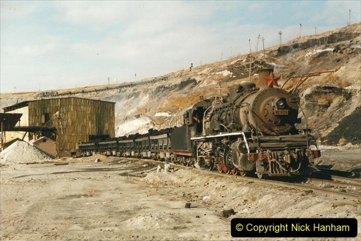 China 1999 October Number 1. (150) At Jalainur Opencast Coal Mine.