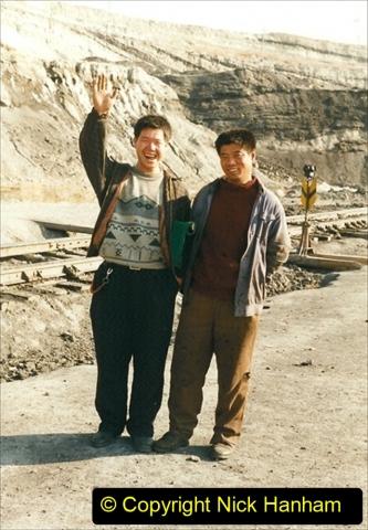 China 1999 October Number 1. (151) At Jalainur Opencast Coal Mine.