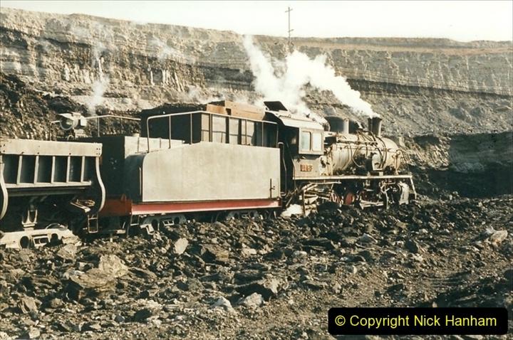 China 1999 October Number 1. (158) At Jalainur Opencast Coal Mine.