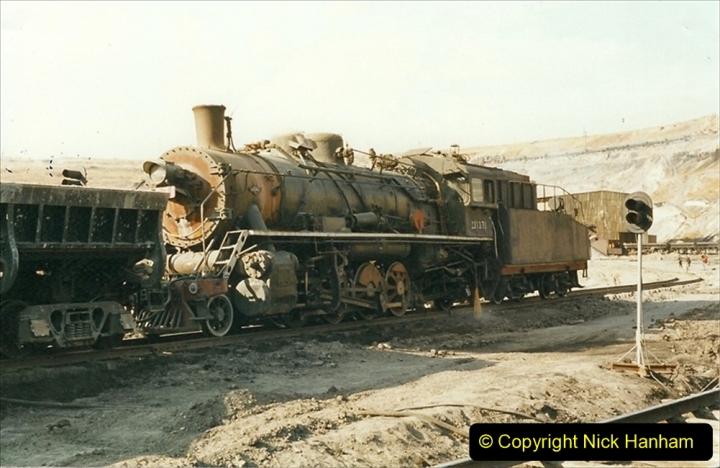 China 1999 October Number 1. (159) At Jalainur Opencast Coal Mine.