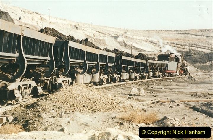 China 1999 October Number 1. (176) At Jalainur Opencast Coal Mine.